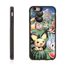 Kryt pro Apple iPhone 6 / 6S - kovový povrch - gumový - Pokemon Go / Pokemoni