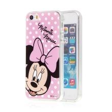 Kryt pro Apple iPhone 5 / 5S / SE - Minnie - růžový - gumový