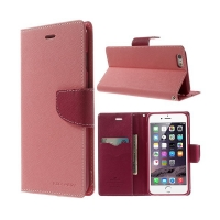 Pouzdro Mercury Goospery pro Apple iPhone 6 Plus / 6S Plus - stojánek a prostor pro platební karty - růžové