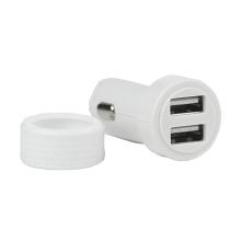Mini autonabíječka s 2 USB porty pro Apple iPhone / iPad / iPod - 3000 mA - bílá