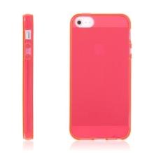 Kryt pro Apple iPhone 5 / 5S / SE - gumový - červený