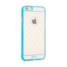 Kryt HOCO pro Apple iPhone 6 / 6S plastový - průhledný s jemnou modrou ozdobou