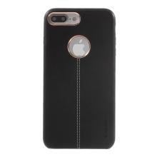 Kryt VORSON pro Apple iPhone 7 Plus / 8 Plus umělá kůže / výřez pro logo - černý