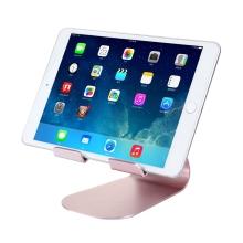 Univerzální hliníkový stojan s nastavitelným držákem pro Apple iPad a další zařízení - Rose Gold
