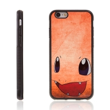 Kryt pro Apple iPhone 6 / 6S - kovový povrch - gumový - Pokemon Go / Charmander