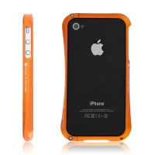 Kvalitní hliníkový bumper Cleave pro Apple iPhone 4S - bronzový