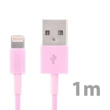 Synchronizační a nabíjecí kabel Lightning pro Apple iPhone / iPad / iPod - světle růžový - 1m