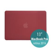 Obal / kryt pro MacBook Pro 13 Retina 2016 / 2017 (A1706, A1708) - plastový - červený vínový