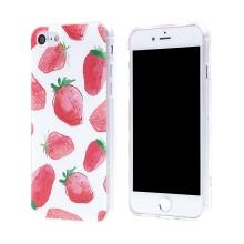 Kryt pro Apple iPhone 7 / 8 - gumový - jahody
