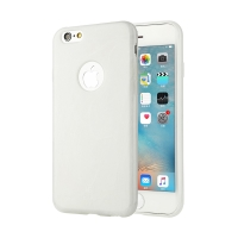 Kryt BASEUS pro Apple iPhone 6 Plus / 6S Plus gumový / výřez pro logo - textura mramoru - bílý