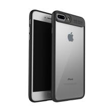Kryt IPAKY pro Apple iPhone 7 Plus / 8 Plus - plastový / gumový - průhledný / černý