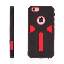 Super odolný outdoor plasto-gumový kryt NILLKIN pro Apple iPhone 6 / 6S - černo-červený + antiprachové záslepky