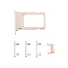 Rámeček / šuplík na Nano SIM + boční tlačítka pro Apple iPhone 7 - zlatý - kvalita A+