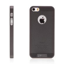 Kryt LOOPEE pro Apple iPhone 5 / 5S / SE plastový / výřez pro logo - šedý