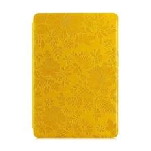Ochranné pouzdro DEVIA pro Apple iPad mini / mini 2 / mini 3 se stojánkem a funkcí chytrého uspání - textura květů - žluté