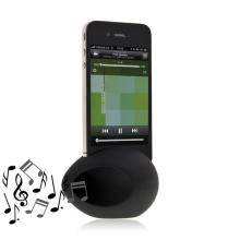 Hudební zesilovací vajíčko a stojan pro Apple iPhone 4 / 4S - černý