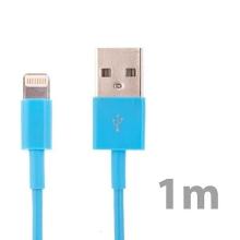 Synchronizační a nabíjecí kabel Lightning pro Apple iPhone / iPad / iPod - modrý - 1m