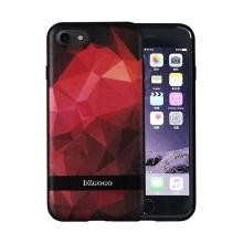 Kryt DZGOGO pro Apple iPhone 7 / 8 - plast / umělá kůže - červené tvary