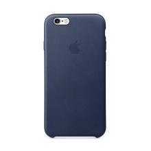 Originální kryt pro Apple iPhone 6 / 6S - kožený - půlnočně modrý
