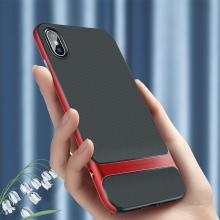 Kryt ROCK Royce pro Apple iPhone Xr - gumový / plastový - černý / červený