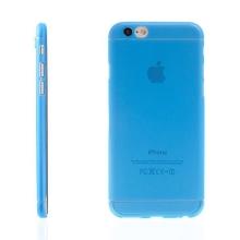 Ultra tenký plastový kryt pro Apple iPhone 6 / 6S - s prvkem / výstupem pro ochranu skla kamery - modrý