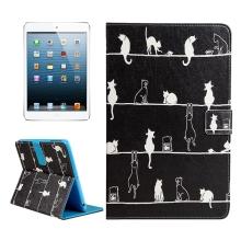 Pouzdro / kryt pro Apple iPad mini / mini 2 / mini 3 / mini 4 - integrovaný stojánek - kočky