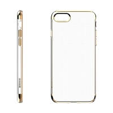Kryt BASEUS pro Apple iPhone 7 / 8 - gumový - průhledný / zlatý