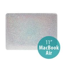 Plastový obal pro Apple MacBook Air 11 - třpytivý povrch - stříbrný