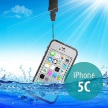 Voděodolné plastové pouzdro Redpepper pro Apple iPhone 5C - bílé s černým rámečkem
