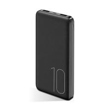 Externí baterie / power bank USAMS US-CD63 - 10000 mAh - 2x USB, 2A, vstup Micro USB - černá