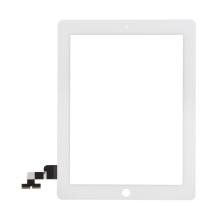 Přední dotykové sklo (touch screen) pro Apple iPad 2.gen. - bílý rámeček - kvalita A+