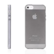 Kryt pro Apple iPhone 5 / 5S / SE (tl. 0,5mm) - antiprachová záslepka - průhledný - černý