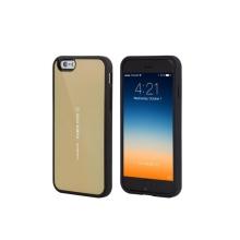 Kryt Mercury pro Apple iPhone 6 Plus / 6S Plus plasto-gumový - prostor pro umístění platební karty na vnitřní straně - zlatý
