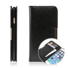 Pouzdro KLD Royale II pro Apple iPhone 6 / 6S kožené / prostor pro osobní doklady a magnetické uzavírání - černé