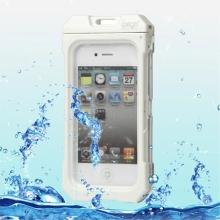 Voděodolné plasto-silikonové pouzdro iPega pro Apple iPhone 4 / 4S - bílo-průhledné