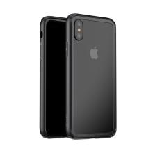 Rámeček / bumper BASEUS pro Apple iPhone X - gumový - černý
