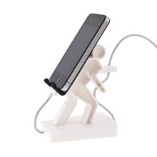 Plastový stojánek horolezec Boris pro Apple iPhone a iPod a podobná zařízení - bílý