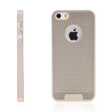 Kryt LOOPEE pro Apple iPhone 5 / 5S / SE plastový / výřez pro logo - zlatý
