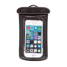 Pouzdro pro Apple iPhone 4 / 4S / 5 / 5S / 5C / SE / 6 / 6S / 7 voděodolné gumové / plastové - se sluchátky - průhledné / černé