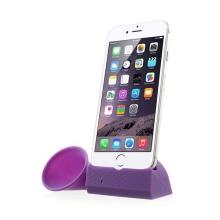 Přenosný silikonový stojánek KALAIXING se zesilovačem zvuku pro Apple iPhone 6 / 6S / 7 - fialový