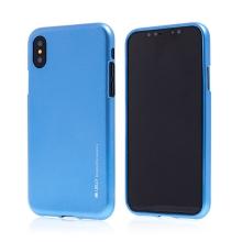 Kryt MERCURY iJelly pro Apple iPhone X - gumový - modrý - matný