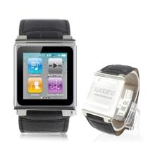 Hodinkové pouzdro pro iPod nano 6.gen. - textura krokodýlí kůže - černé