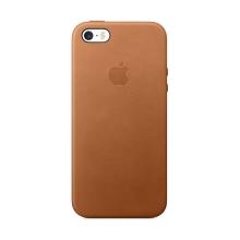 Originální kryt pro Apple iPhone 5 / 5S / SE - kožený - sedlově hnědý