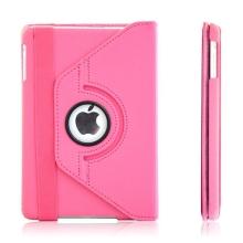 Pouzdro / kryt pro Apple iPad mini / mini 2 / mini 3 - 360° otočný držák - růžové