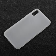 Kryt pro Apple iPhone X - ultratenký - gumový - bílý