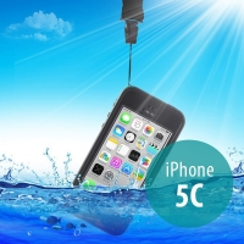 Voděodolné plastové pouzdro Redpepper pro Apple iPhone 5C - černé