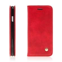 Pouzdro pro Apple iPhone 7 / 8 - stojánek a prostor na doklady - červené