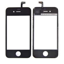 Náhradní sklo s dotykovou vrstvou (touch screen digitizer) pro Apple iPhone 4S - černý rámeček - kvalita A