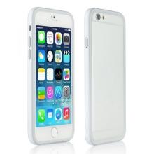 Ochranný plasto-gumový rámeček / bumper pro Apple iPhone 6 - bílo-šedý