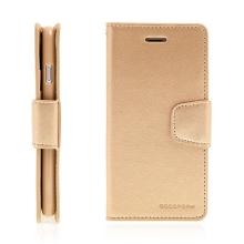 Pouzdro Mercury Sonata Diary pro Apple iPhone 7 - stojánek + prostor pro doklady - zlaté